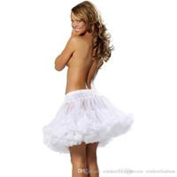 "Wholesale Elastic Waist Shorts Colorful - Little Black Skirts 18"" 50s Retro Underskirt Swing Vintage Mini Petticoat Elastic Waist Short Slip Mini Tutu Rockabilly Slip Colorful CPA296"