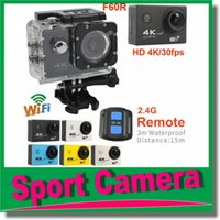 Wholesale Wholesale Pro Cameras - Action Camera Ultra HD 4K 30FPS WiFi 1080P 60fps 2.0 LCD 170D Lens Helmet Cam go Waterproof pro Camcorder with 2.4G Remote Control JBD-N5
