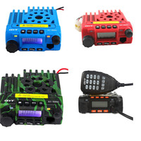 Wholesale Uhf Mobile Radios - QTY kt-8900 mobile radio transceiver kt8900 mini car bus army mobile vhf two way radio station UHF VHF 136-174 400-480MHz BLUE