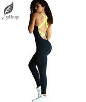 Wholesale Sports Activewear Fashion - Wholesale-2016 New Summer fashion Women Backless Bandage Bodycon Activewear Jumpsuit Playsuits Outdoor Rompers Sport Pants