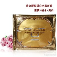 Wholesale Collagen Facial Gel - free shipping Gold Powder Collagen Crystal Facial Mask Anti-Aging Gel Moisture Face Mask