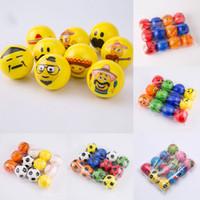 emotionales gesicht großhandel-Neuer Fußball Emoji-Gesichtsschwammball Druck entspannen sich emotionale matschige Kugeln des Spielzeug-Ball-Halloween-Monsters 10 Arten 6.3cm / 2.5inches C2652