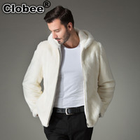 Wholesale Knitted Mink Coat Hood - 2017 6XL men faux mink coat Luxury thicken warm faux fur men's solid overcoats jackets Oversized loose coats with hood WR669