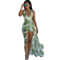Wholesale Chiffon Evening Dresses For Women - 2016 Summer Dress For Women Bohemian Style Women Maxi Prom Party Dresses Evening Chiffon Women Clothing Vintage Long Summer Dress Plus size