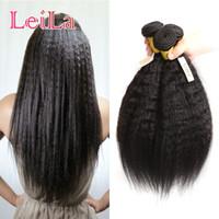 ingrosso prezzo 14 capelli peruviani-5 Bundles Kinky Diritto Prezzo all'ingrosso Tesse per capelli 95-100 g / per Bundles Brasiliano Malese Indiano Peruviano Afro Kinky Etero