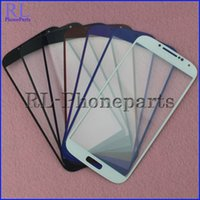 Wholesale S3 Mini Outer Screen - DHL 100pcs lot For Samsung Galaxy S4 i9500 i9505 i337 S4 mini I9190 I9195 LCD Front Outer Touch Screen Glass Lens Digitizer Screen + logo