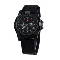 Wholesale Wholesale Luxury Watches For Men - Luxury Swiss Military watch Analog SWISS ARMY logo Nylon band Watches TRENDY SPORT MILITARY Wristwatch for MEN watch 6 color