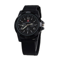 Wholesale Luxury Swiss Military watch Analog SWISS ARMY logo Nylon band Watches TRENDY SPORT MILITARY Wristwatch for MEN watch color