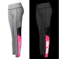 Wholesale Chinese Yoga - LOVE PINK secret Yoga Jogging Pants Women's Sport Fitness Quick-dry Pant Victoria Tights Trousers girls Leggings Elasticity sportswear