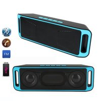 Wholesale Usb Speakers - New Portable Wireless Speaker Bluetooth 4.0 Stereo Full Range Dual Loudspeaker Bass Sound Speakers Subwoofer TF USB FM Radio Built-in Mic