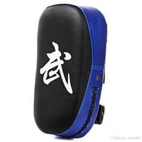 taekwondo sparring zahnrad großhandel-Quadratisches Taekwondo-Verpacken-Auflage-Sandsack-Karate-Sparring Muay-thailändisches TKD-Trainings-Fuß-Ziel-Zahnrad PU-Leder-Oberflächen-Schaum 5 Farben heiß + NB