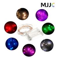 açık hava peri ışıkları akülü işletilmektedir toptan satış-2 M 3 M 4 M 5 M led dize ışıkları Pil Işletilen LED Bakır Tel Dize Peri Işık Düğün Noel açık Dekorasyon