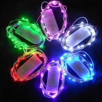 ingrosso batterie led micro luci-Il più caldo CR2032 a pile 2M 20LEDS Micro Led fata String luce filo di rame led string Decorazioni natalizie