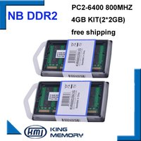 Wholesale Memoria Ddr2 - 800Mzh 4GB (Kit of 2 2G) DDR2 PC2-6400S 1.8v 200 pins So-DIMM Memory Module Ram Memoria for Laptop   Notebook