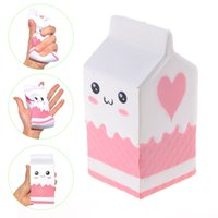 Wholesale Key Box Toy - squishy milk bottle can box eric squeeze squishy slow rising jumbo Cell Phone Key chain Strap Pendant roll Squishes PU cute toys