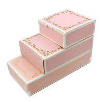 Wholesale Food Tablets - 10PCS 4 6 8 Packed Mooncake Box Tablets Drawer Pink Bronzing Mooncake Folding Box Glutinous Rice Cake Box