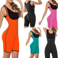 Wholesale Gym Corset - Wholesale-Palicy Good Quality Women Full BodySuit Sweat Shaper Waist Hips Trainer Sweating Sauna Suit Weight Loss Gym Shaperwear Corsets