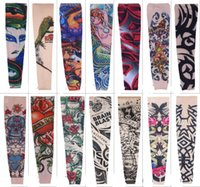 Wholesale Tattoo Street - Free DHL Popupar Pop Street Style Tattoo Sleeve Cool Rock Cycling Arm Warmers Fingerless Unisex Sleeve Mix 108 Styles L4