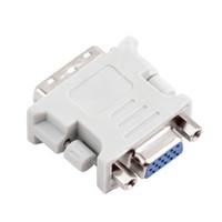 carte coulissante achat en gros de-DVI DVI-I mâle 24 + 5 24 + 1 pin vers VGA femelle convertisseur vidéo adaptateur adaptateur pour DVD HDTV TV D