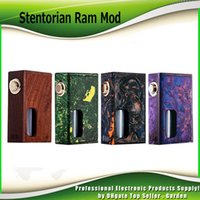 Wholesale Gold Plated Parts - Original Stentorian Ram Box Mod Mechanical Vape Mod with Food Grade PET Bottle Feeding 24k gold plated metal parts 100% Authentic