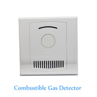 Wholesale Natural Gas Detectors - Indoor Use Wall-Mounted Combustible Gas Detector Coal Natural LPG Gas leak Fire Alarm CH4 leaking Sensor NC NO signal options Free Shipping