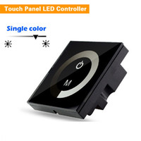 Wholesale Dc Led Dimmer Switch - DIY Home Lighting Single Color LED Touch Panel Controller Led Dimmer Switch for DC12V 5050 5630 3528 LED Strip Lights