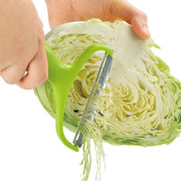 espremedor ralador venda por atacado-Descascador De Legumes De Aço Inoxidável Raladores de Repolho Salada de Batata Slicer Cortador De Frutas Faca Acessórios de Cozinha Cozinhar Ferramentas