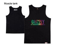 Wholesale Grizzly Green - Grizzly Grip X Diamond Supply Muscle Tank Men's hip hop vest singlet Tops brand new vests tanks tops men sleeveless clothing free shipping