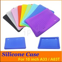 "Wholesale Cheap Tablets For Kids - Cheap Anti Dust Kids Child Soft Silicone Rubber Gel Case Cover For 10"" 10.1 Inch A83T A33 A31S Android Tablet pc MID Free DHL colorful 50pcs"