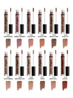 ingrosso biancheria colori nude-NYX Lip Lingerie Matte Liquid Lipsticks Marchi a lunga durata per lucidalabbra Rossetti impermeabili Nude Lip Gloss Makeup 12 colori DHL Free Ship