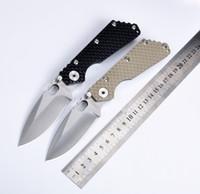 cuchillos de camping plegables de mejor calidad. al por mayor-¡Gran venta! SMF Negro G10 Mango 7Cr17mov Cuchillo de supervivencia táctico MSC Hoja de acero inoxidable La mejor calidad
