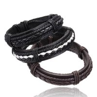 Wholesale Snake Leather Wholesale - Wholesale-leather bracelet men Jewelry 2016 wristband women hombre pulseira masculina feminina mujer erkek bileklik bohemian charm hombre