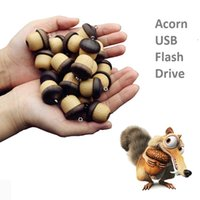 Wholesale Cheap Flash Drives 16gb - 2016 new design price cheap wood acorn flash drives 16GB 32 GB 64GB flash drive memory disk, christmas gift thanksgiving gift for men