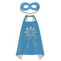 partymasken für kinder großhandel-Superheld Kids Capes Doppelschichten 70 * 70 cm Satin Cape Weihnachten Halloween Kostüme Cosplay Kleidung Cosplay Capes Und Maske Party Kostüme