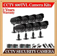 """Wholesale Security Camera Outdoor Housings - Free shipping , CIA-8pcs lots 1 3"""" 600TVL High Quality ABS Plastic House CMOS Color CCTV Security Camera Weatherproof Outdoor Bullet Camera"""