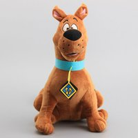"""Wholesale Brown Dog Stuffed Animal - Hot Sale 13"""" 33cm Scooby Doo Dog Plush Toys Stuffed Animals Toy For Baby Gifts New"""