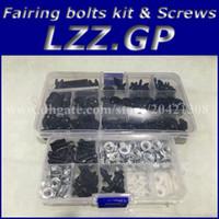 Wholesale Zx6r Silver Black - Fairing bolts kit screws for Kawasaki NINJA ZX6R 2005 2006 ZX 6R 636 05 06 ZX-6R 05-06 fairing screw bolts Black silver