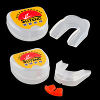 SUTENG Boxing Mouthguard Grinding Teeth Guard Alta qualidade Outdoor Sports Basketball Silicone One / double Side Dental Mouthpiece 2501043/45