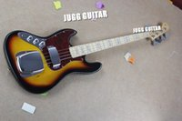 Wholesale Left Bass Neck - Custom RARE Left Handed Sunburst 4 Strings Electric Bass Guitar Big Chrome Bridge Pickups Cover Maple Neck MOP Block Fingerboard Inlay