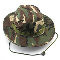 Wholesale red rounded hat online - Outdoor Mountaineering Fisherman Jungle Hat Camouflage Ben Nepalese Rounded edges cap hat Military Hats Army Cap Fishing Sport Hat