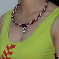 Wholesale Three Ropes Tornado Sports Necklace - titanium sports three ropes tornado woven baseball necklaces