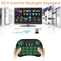 OEM Mini i8  I8 Smart Fly Air Mouse Remote Backlight 2.4GHz Wireless Bluetooth Keyboard Remote Control Touchpad For S905X S912 TV Android Box X96 T95