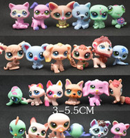 Wholesale Lps Animals - Toy bag 24Pcs lot Pet Shop Animals Cats Kids boy and girl Action Figures PVC LPS Toy Birthday Christmas Gift