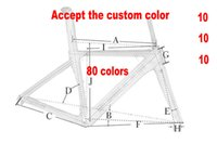 Wholesale Carbon Road Bike 51cm - 80 New Colors Carbon Road Frame Carbon Bike Frame 3K 1K 44cm to 59.5cm Avaliable