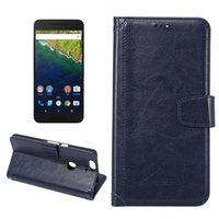 Wholesale Leather Case Nexus Frame - 2016 New Folio PU Leather Spliced Wallet Cases 2 Card Pockets Photo Frame with Hard Case for Google Nexus 6P 100pcs lot