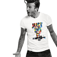 Wholesale casual white shirts for men - Fashion Just Do It Letter Print T Shirts for men Casual Short Sleeve Crew Neck T-Shirt Loose Fix Tops Tees tshirt TX133 RF