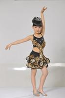 Wholesale Shirred Dress Child - Modern dance performance of the girls dress children stage Children skirt Latin dance Jazz dance festival skirt