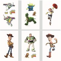 Wholesale Sexy Cartoon Tattoos - Free Shipping 1200psc lot MIXED Children fashion colorful Toy Story Woody Buzz Cartoon sexy arm Tattoos Stickers waterproof