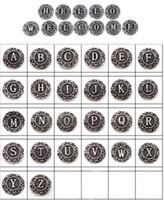 Wholesale English Alphabet Letters - Vintage 26 English letter Ginger Snaps Metal alphabet Snap Button Interchangeable Jewelry Accessory Mix A-Z Wholesale lots