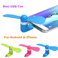 Wholesale Mini Usb Phone - Portable Mini USB Fan Large Wind Cooling Powered by Phone For Galaxy S7 S7edge Iphone 7 7plus travelling usb fans Wholesale